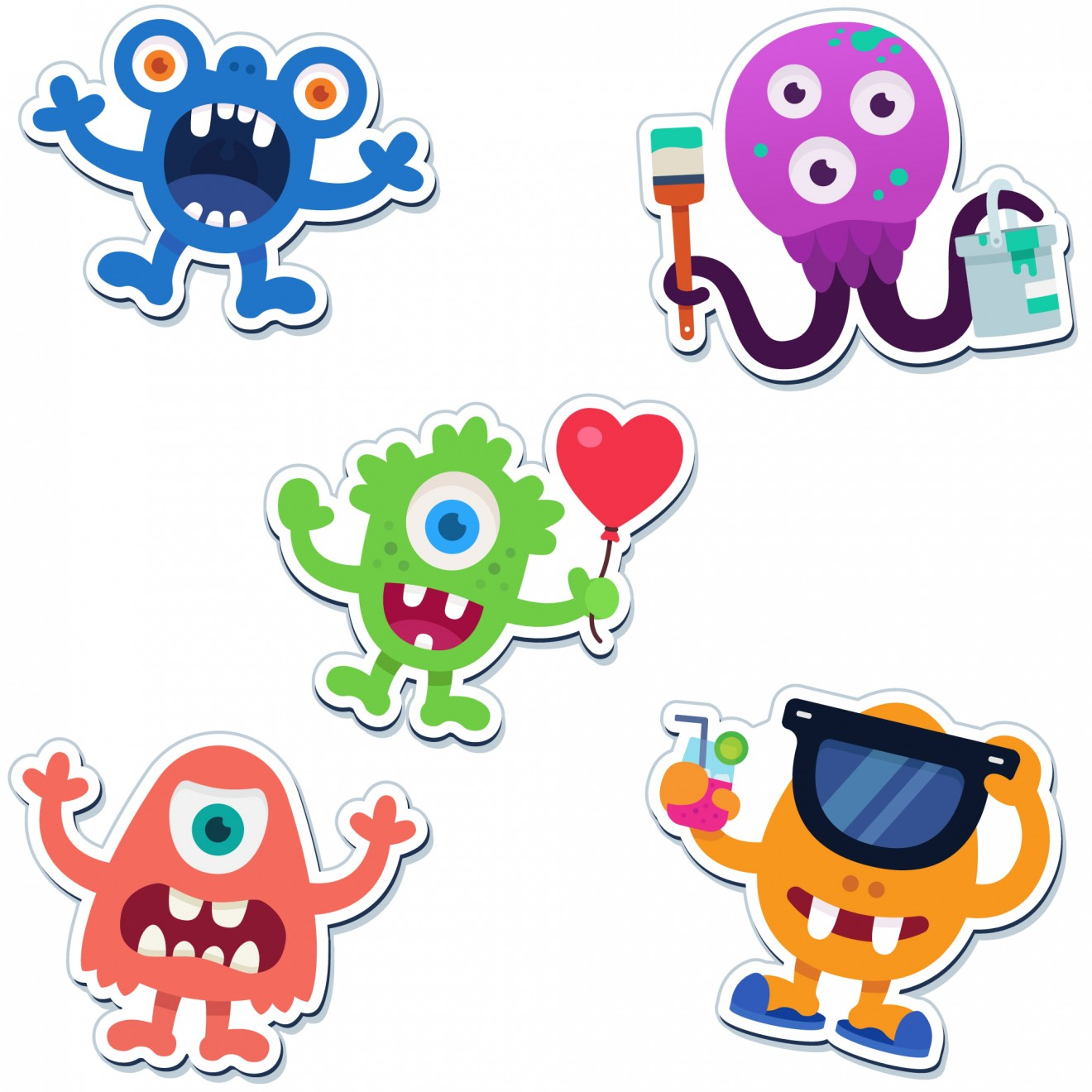 Image of the product The happy bunch, from the product category Magnets